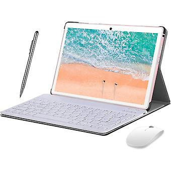 FengChun 4G Tablet 10 Zoll Android 10.0, 2 in1 Tablet mit Tastatur 4 GB RAM und 64 GB ROM, 8000 mAh