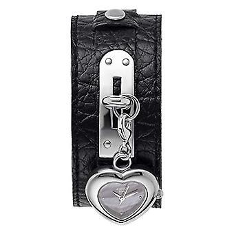At Time 422-1007-94 Quartz Wristwatch, Analog, Woman, Leather, Black