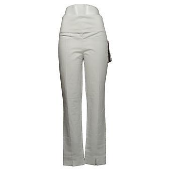 Kobiety z control shaper wysoki tm brzuch sterowanie przednie szczelina spodnie biały A381528