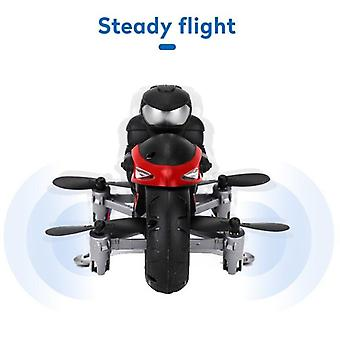 Motorcycle Headless Mode Remote Control Four axis Drone Racing Stunt Toys For Kids(Red)