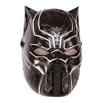 Black Panther Childrens/Kids Metallic Mask