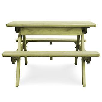 vidaXL Picknicktafel met banken 90×90×58 cm Grenen hout Geïmpregneerd