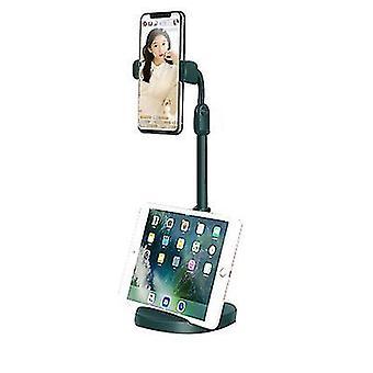 Πράσινος κινητός τηλεφωνικός κάτοχος με τη διευθετήσιμη γωνία και το ύψος x5215