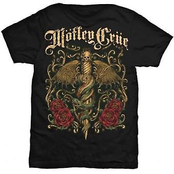 Motley Crue Exquisite Dagger Mens Black T Shirt: X Large
