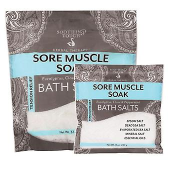 Soothing Touch Bath Salts, Soak Muscle 32 Oz