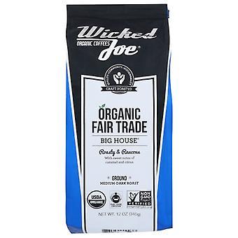 Wicked Joe Coffee Coffee Big House Ground, Case of 6 X 12 Oz