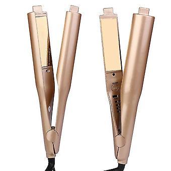 Uk plug lisseur de cheveux, coiffage - or, titane, pro céramique rouleau de maïs az12674