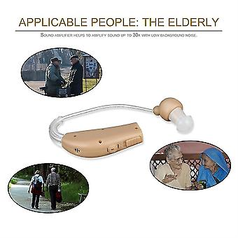 Rechargeable Hearing Aids Sound Voice Amplifier Behind The Ear Eu/us Plug