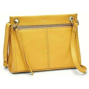 Fossil Violet Crossbody Golden Yellow Leather SHB2471717