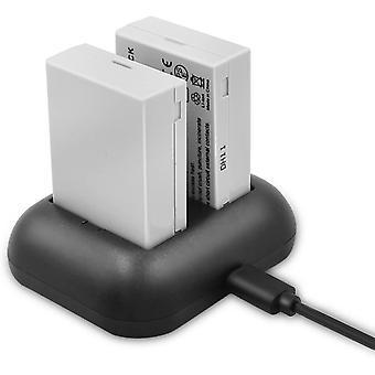 Ersatzbatterie (2er Pack) und Rapid Dual Ladegerät für Canon LP-E8 und Canon EOS Rebel T2i, T3i,