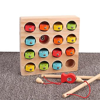 Children's Magnetic Fishing Toy Numeral Magnet   Educational Wooden Fishing Game Toy|Fishing Toys