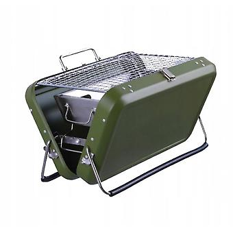 Outdoor Carrying Luggage Type Barbecue Folding Stainless Steel Carbon Grill