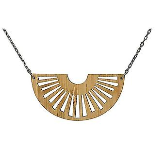 Tribal Sun Bamboo Necklace #6114(As Pictured)