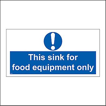 MA213 This Sink For Food Equipment Only Sign with Exclamation Mark
