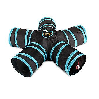 YANGFAN 5 Way Collapsible Cat Tunnel Pet Toys for Cat,Puppy,Rabbit