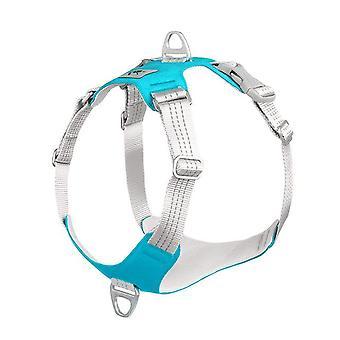 Pet Dog Harness Dog Training Reflective Chest Strap Vest Chaleco protector ajustable al aire libre (azul)