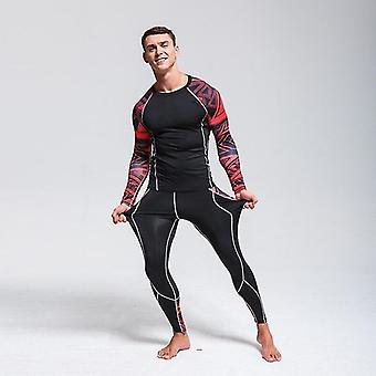 Menins Compression Sportswear Fitness Ropa interior térmica Sport Suit