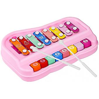 2 In 1 Baby Piano Xylophone Toy For Kids, 8 Multicolored Keyboard