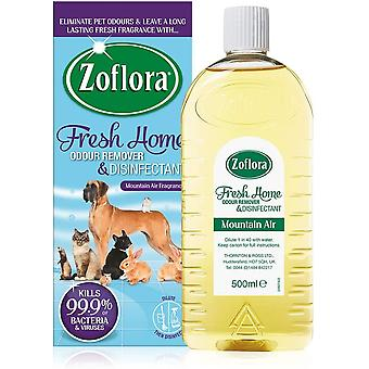 3 X Zoflora Concentrated Pet Odour Remover Disinfectant 500Ml - Fresh Home - Mountain Air