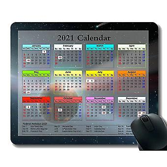 Keyboard mouse wrist rests 300x250x3 gaming mouse pad 2021 year calendar with holiday spring slightly schwerlos float light