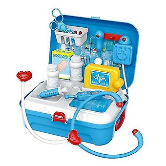 Pretend professions role playing blue christmas gift kids doctor toy medical set role play kit