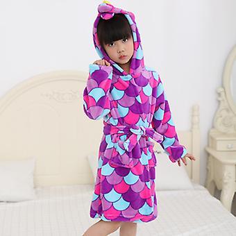 Kids Boy Girl Yksisarvinen Kylpytakki Univaatteet Pyjama Fleece Aamutakki