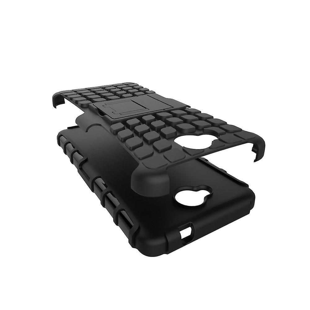 الفيديو Microsoft إينفينتكاسي 650 حالة الصدمات الثقيلة 2016 تغطية مع موقف بناء وحامي الشاشة-أسود