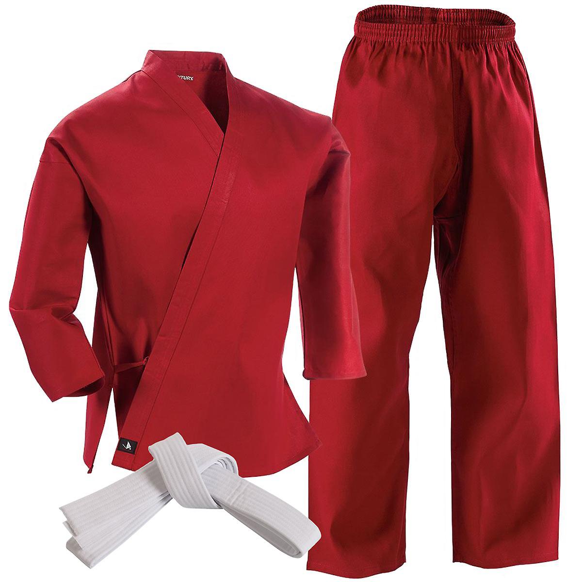 Century Martial Arts Talet 6 oz. lätta Student Uniform med elastisk byxor - röd 3