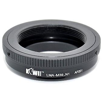 Kiwifotos objektív Mount Adapter: umožňuje Leica M39 závit Mount (LTM) objektívy na ľubovoľnom fotoaparáte Nikon 1 Series (J1, J2, v1, v2)
