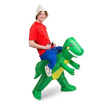 Dinosaurus possu puku Walker rider puhallettava motor selkäänsä puku