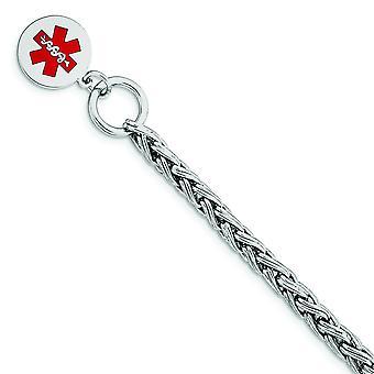 925 Sterling Silber poliert Gravierbare Toggle Verschluss Emaille Disc Med ID Armband Toggle Schmuck Geschenke für Frauen - Le
