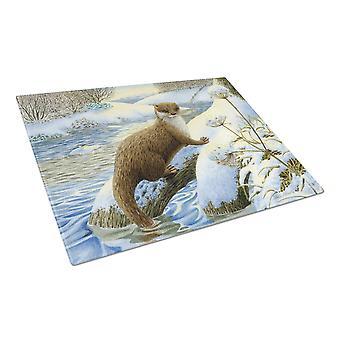 Carolines Treasures  ASA2187LCB Winter Otter Glass Cutting Board Large