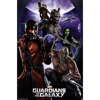 Marvel vartijat galaksin - ryhmän juliste Juliste Tulosta