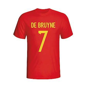 كيفن دي بروين بلجيكا بطل تي شيرت (أحمر)-للأطفال