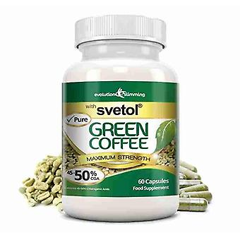 Pure Svetol Green Coffee Bean with 50% CGA - 60 Capsules - Fat Burner and Antioxidant - Evolution Slimming