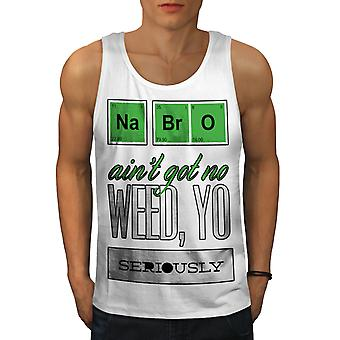Br O Chemistry 42 Geek Men WhiteTank Top | Wellcoda