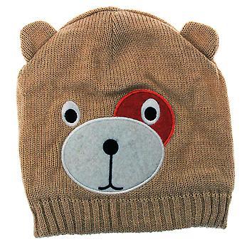 Childrens/Kids Girls Teddy Bear Design Winter/Ski Hat With Inner Lining