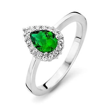 Orphelia Silver 925 Ring Drop smaragd kleur zirkonium ZR-7226/EM