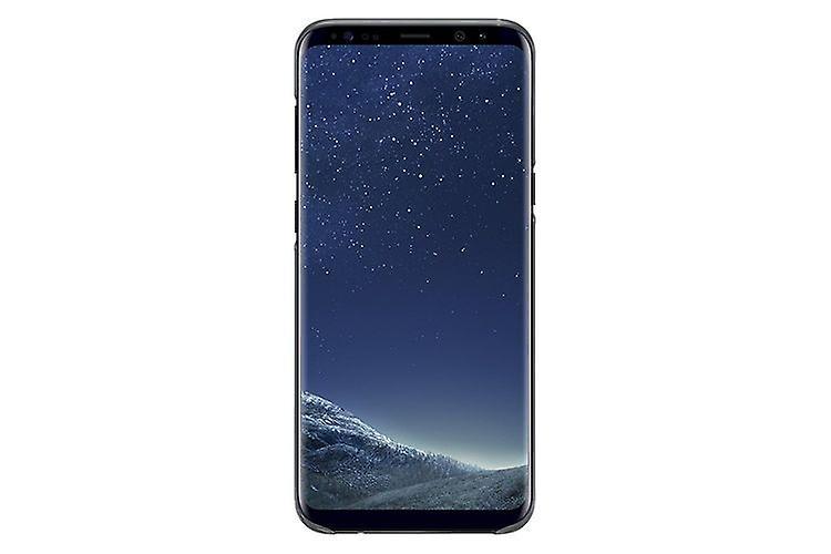 Samsung EF-QG955CB hard plastic cover case, transparent black for G955F Galaxy S8 plus