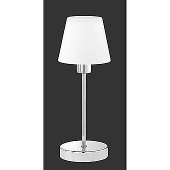 Trio Lighting Luis Modern Chrome Metal Table Lamp