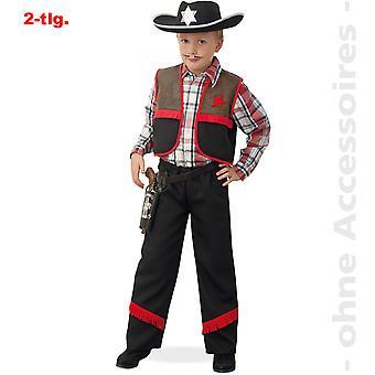 Fantasia infantil cowboy traje crianças vaqueiro Ranger Revolerheld