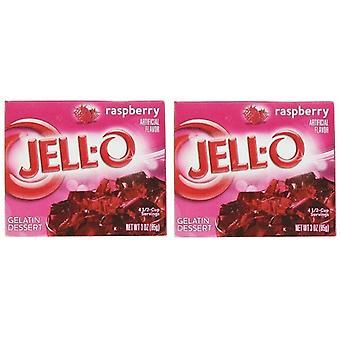 Jell-o Himbeere Instant Jello Gelatine Mischung 3 Unzen Box 2er Pack