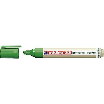 Edding edding 22 permanent marker EcoLine 4-22004 Permanent marker Green waterproof: Yes
