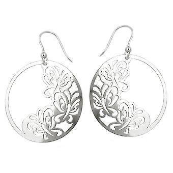 Цветочные уха рыбы крючок серьги серебро БАБОЧКА блестящие серьги серебро 925