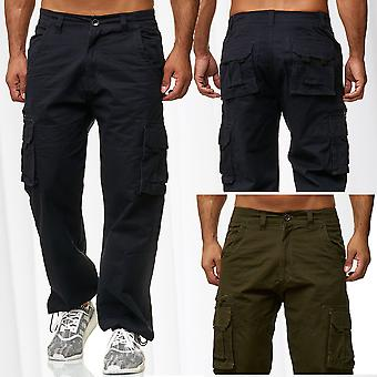 Mens Cargo Pants Long Combat Khaki Casual Cotton Army Pants Leisure Pants