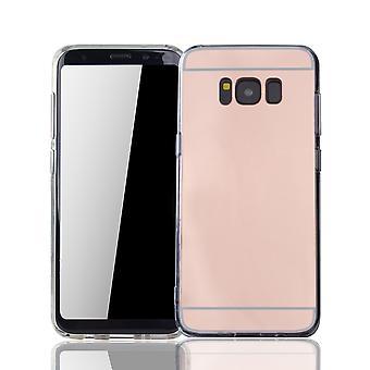 Samsung Galaxy S8 puhelimen tapauksessa peili pehmeä kotelo suojakansi ruusu kulta