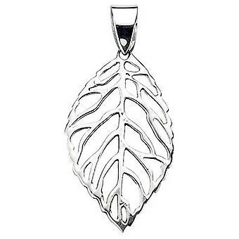 Początki wyciąć liść wisiorek - srebrny