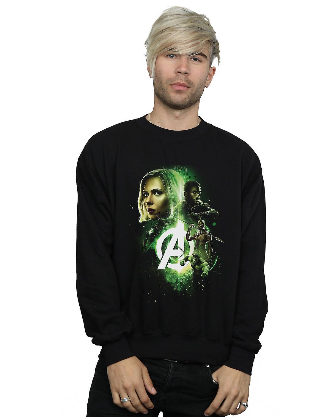 Marvel Men's Avengers Infinity War Widow Panther Team Up Sweatshirt