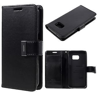 MERCURY Goospery Rich Diary for Samsung Galaxy S7-Black