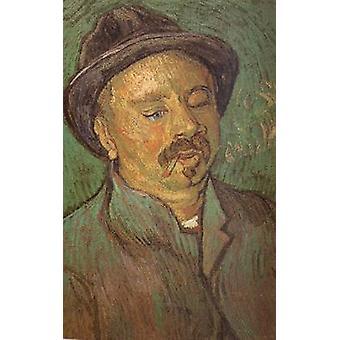 Yhden Eyed miehen, Vincent van Goghin muoto kuva, 56x 36,5 cm